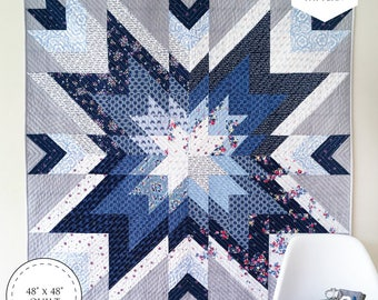 Indigo Star Quilt PDF Pattern