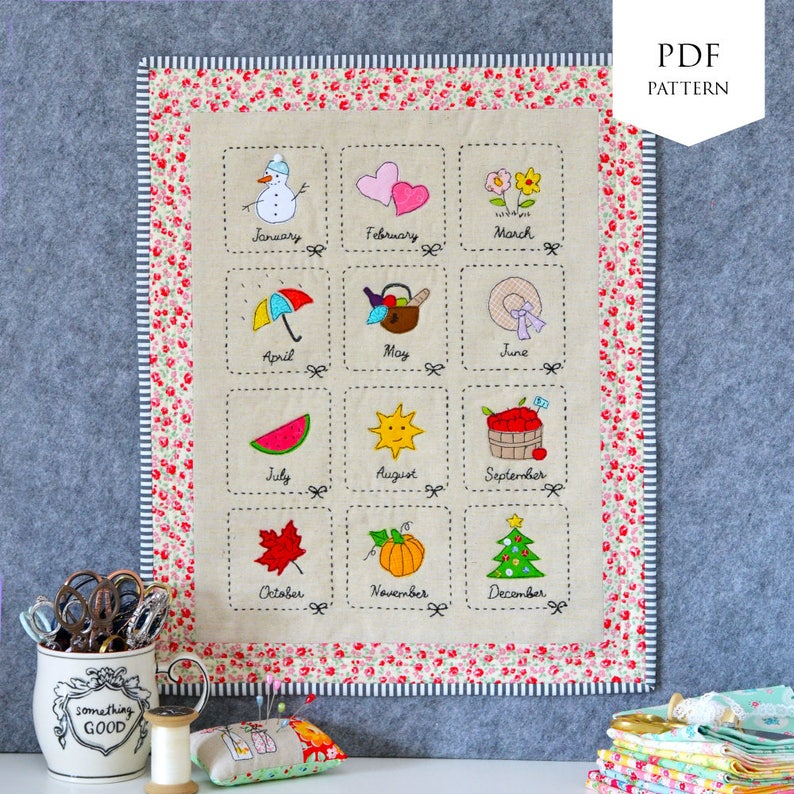 Monthly Sampler PDF Pattern image 0