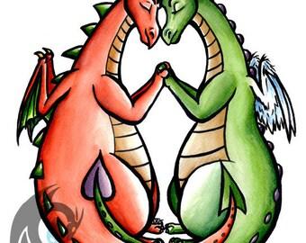 Zoete Hearts - Dragon Fantasy kaart A6