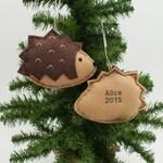Felt Hedgehog Ornaments / Handmade 2019 Kids Pets Name Ornament / Made to Order