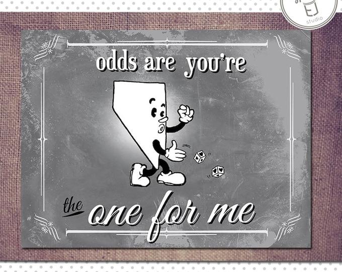 Nevada Valentine Card, Blank Inside (5.5 x 4.25 inch)