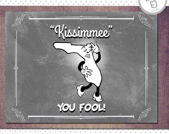Florida Valentine Card, Blank Inside (5.5 x 4.25 inch)