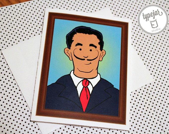 Salvador Dali Valentine Card (4.25 x 5.5 inch)