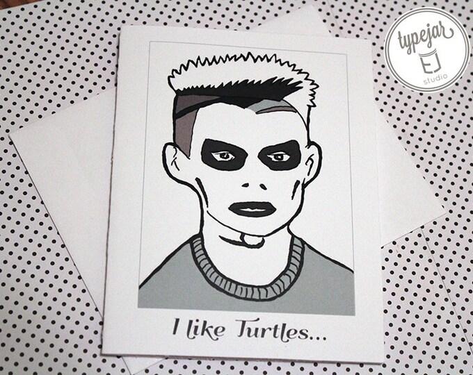 I like Turtles Valentine Card (4.25 x 5.5 inch)