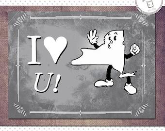 New York Valentine Card, Blank Inside (5.5 x 4.25 inch)