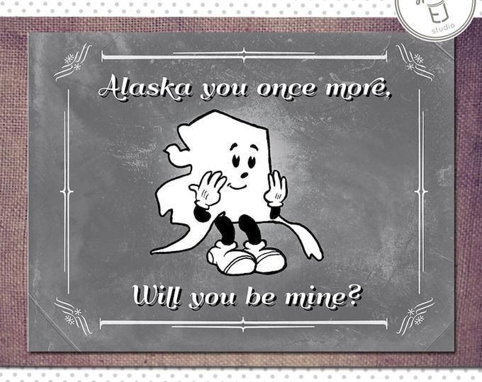 Alaska Valentine Card, Blank Inside (5.5 x 4.25 inch)
