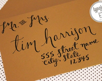 Hand Addressed Envelopes for Weddings and Other Special Events