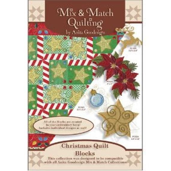Anita Goodesign Christmas Quilt Blocks Embroidery Cd Etsy