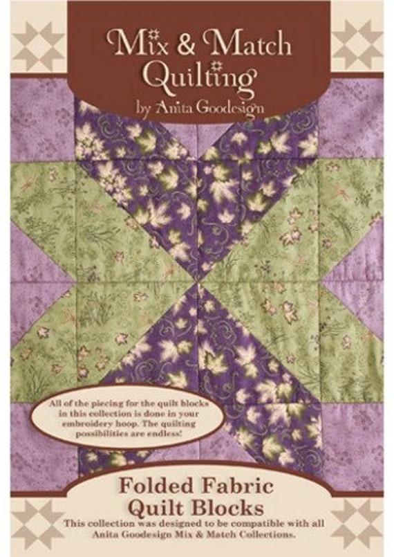 Anita Goodesign Folded Fabric Quilt Blocks Embroidery Cd Etsy