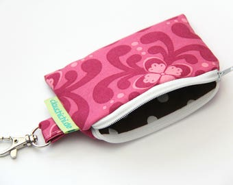 Key Bag Fuchsia Mini Wallet
