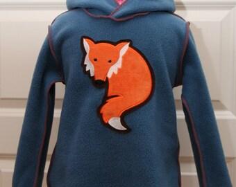 86-128 Hooded Pullover Fuchs Wunschgöße