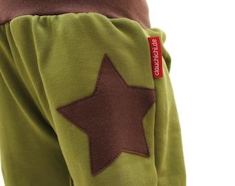 Pump pants STERN, size 74/80 unique, baby pants, green