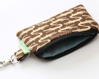 Key pocket Crocodiles mini purse