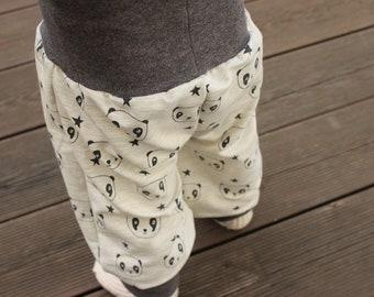 Harem pants PANDA for baby & child, desired size 50-116, pants, light grey grey