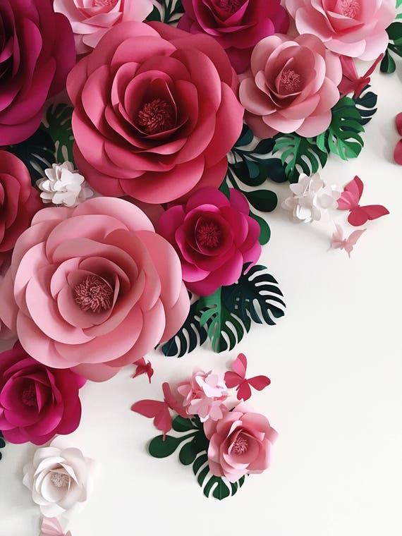 Papieren Bloemen Fleur Nl Papier Huwelijksbloemen Papier Etsy