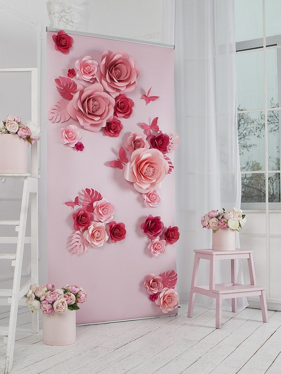 paper flowers paper flowers backdrop wedding backdrop etsy