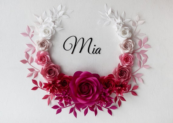 Ombre Paper Flowers Ombre Paper Flowers Wall Decor Ombre