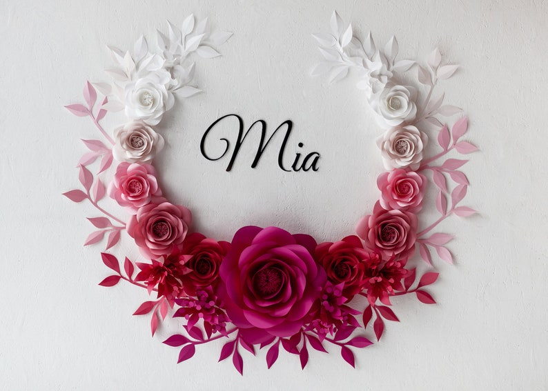 Ombre Paper Flowers Ombre Paper Flowers Wall Decor Ombre Nursery Wall Decor Code 155