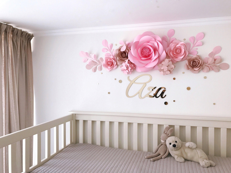 Baby Room Flower Arrangement Baby Room Paper Flowers Nursery Paper Flowers Paper Flowers Wall Decor Code 113