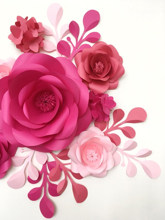 Baby room wall decor paper flowers paper flowers over the etsy image 0 mightylinksfo