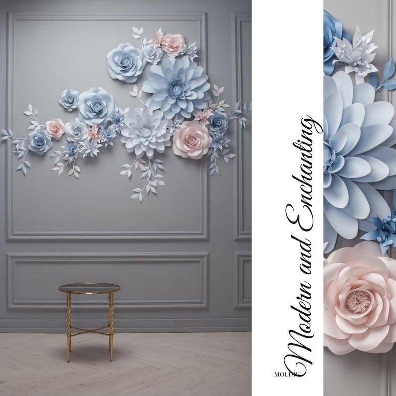 Wedding Paper Flower Backdrop Alternative Paper Flower Arch Wedding Reception Decor