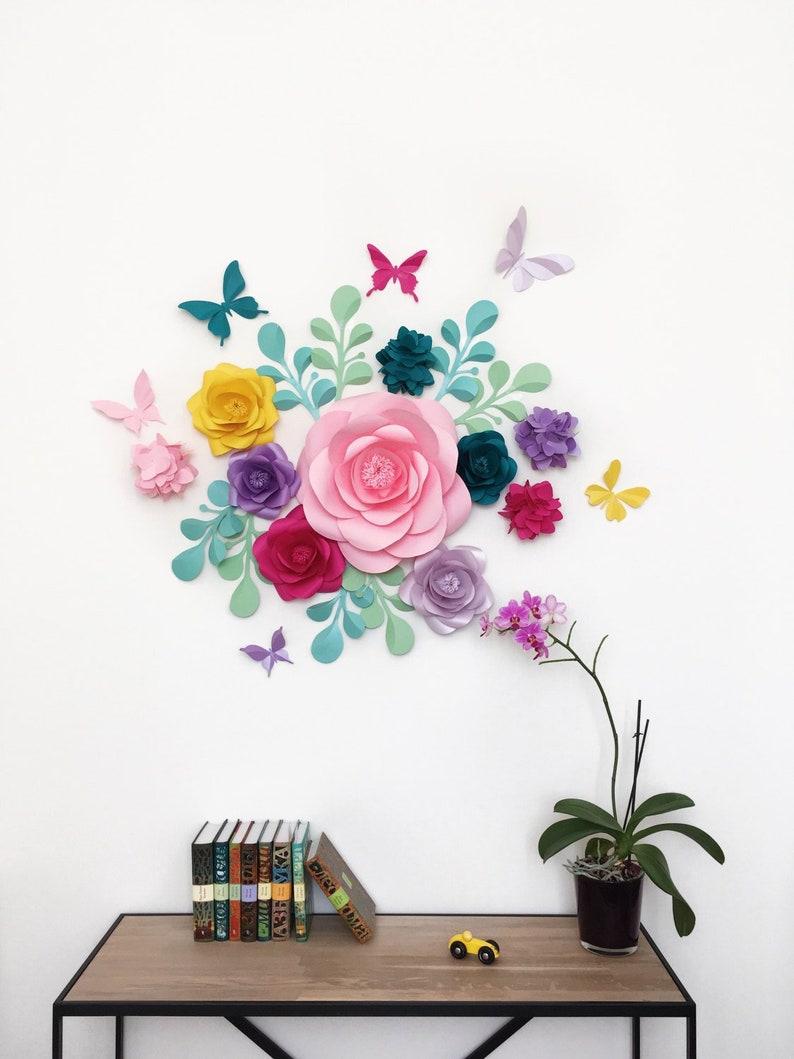 Unicornio Parte Papel Flores Flores De Papel Para Fiesta De Etsy