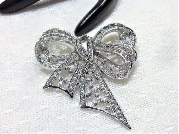Elegant Vintage Sterling and and Marcasite Butterfly Brooch and Pendant Set