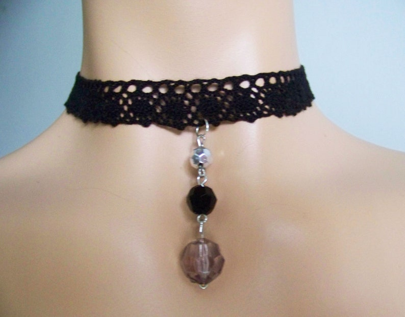 Necklaces IDEAL for HER Baroque Gothic Necklace Delicate Colorful beads Black Lace Choker Romantic Simple Thin