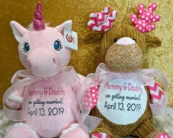 Custom Embroidered Stuffed Animal - Cubbies