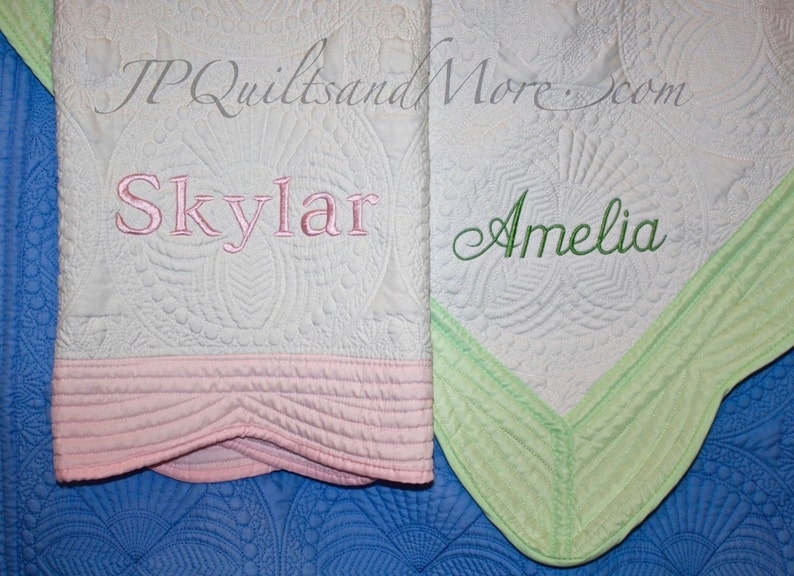 Embroidered Baby Quilt image 0