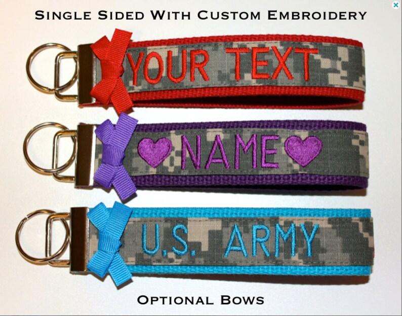 Custom Single Sided Military Wristlet  Army Air Force & image 0
