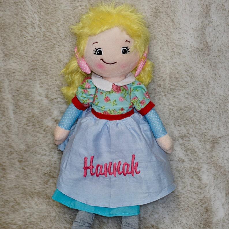Custom Embroidered Rag Dolls image 0