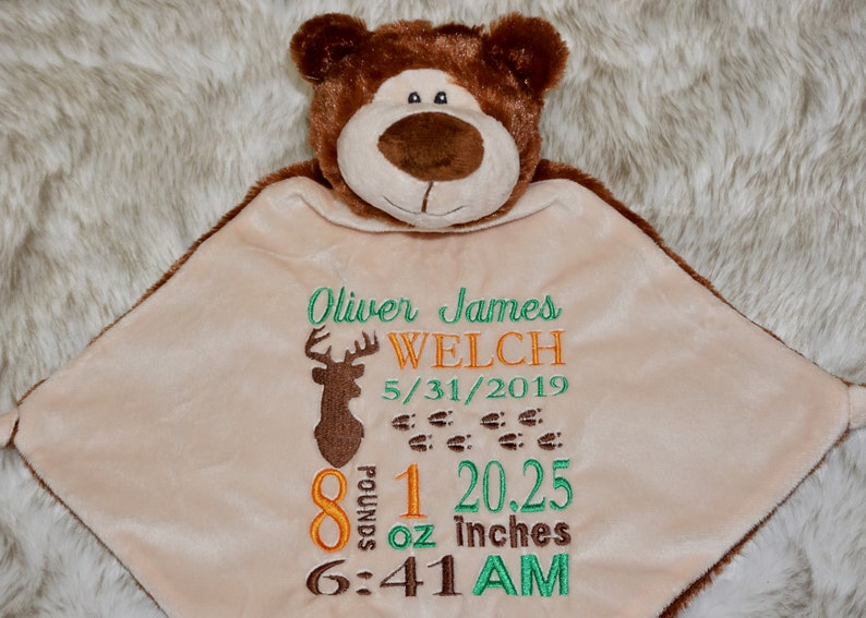 Custom Embroidered Blankie  Cubbies image 0
