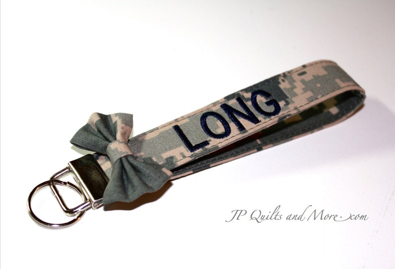 Custom Embroidered Bow Military Wristlet  Army Air Force & image 0
