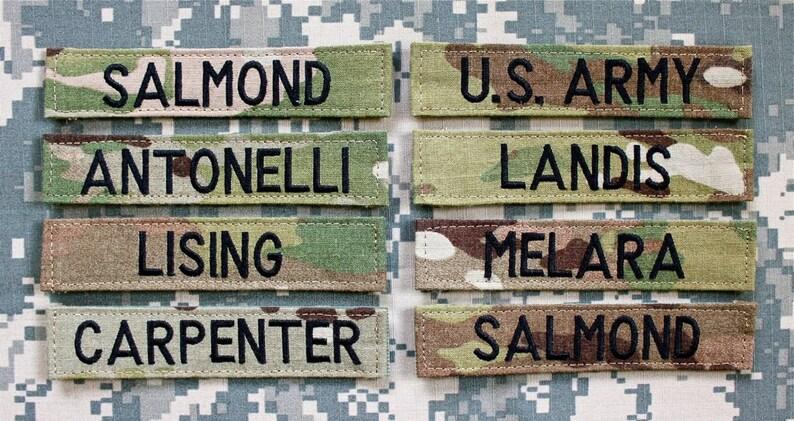 Custom Army Nametape ACU or OCP Scorpion/Multicam image 0
