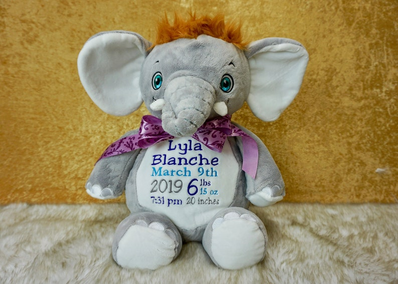 Custom Embroidered Stuffed Animal  Cubbies image 0