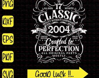Birthday 2004 svg Birthday 2004 Cut File for Cricut 2004 Birthday SVG jpg eps png dxf 17th birthday Svg Fabulous since 2004 SVG