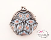 English pattern for the coin purse Diamonds