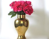 RESERVED FOR KATE  Brass Vase Urn Chinoiserie Hollywood Regency
