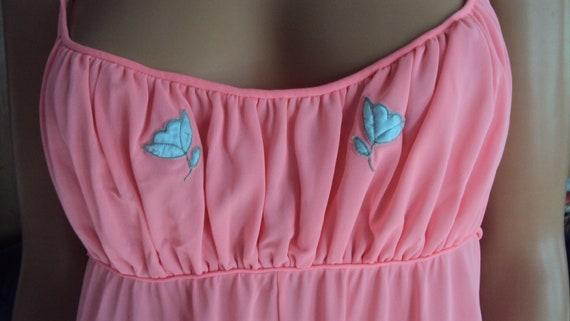 Vintage Claire Sandra LUCIE ANN Pink Nylon & Lace… - image 4