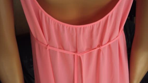 Vintage Claire Sandra LUCIE ANN Pink Nylon & Lace… - image 8