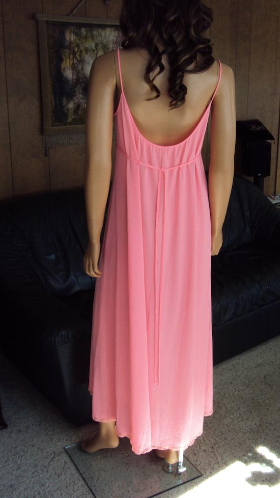 Vintage Claire Sandra LUCIE ANN Pink Nylon & Lace… - image 6