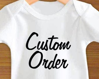 Custom and Personalized Baby Bodysuit or Toddler Shirt
