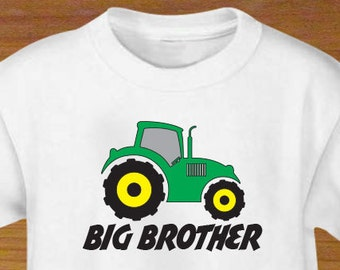 Big Brother Green Tractor Shirt