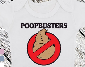 Poopbusters Funny Baby Bodysuit or Toddler Shirt