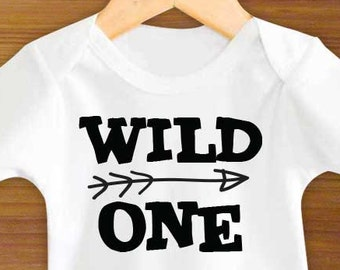 Bodysuit or Toddler Shirt, Wild One, Baby Bodysuit, Baby Shower Gift, Girls, Boys