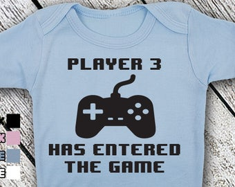 Bodysuit or Toddler Shirt, Player 3 Has Entered The Game, Baby Bodysuit, Baby Shower Gift, Girls, Boys