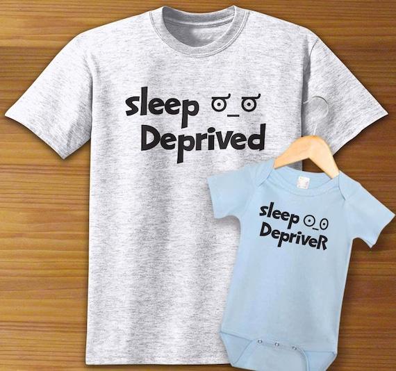 Sleep Deprived// Depriver Matching T Shirt Mum /& Baby Dad /& Baby// baby shower