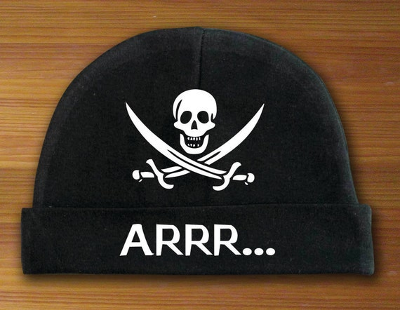 Arrr... Skull and Crossbones Beanie Hat for Babies White and  73f5bad8e75