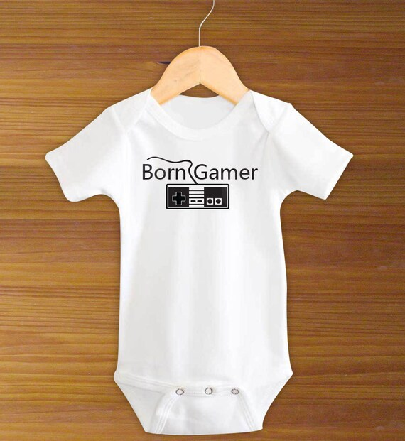 e70153eba Bodysuit or Toddler Shirt Born Gamer Baby Bodysuit Baby